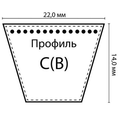 Ремень клиновой С(В)-2650 Lp / 2592 Li ГОСТ 1284-89 HIMPT
