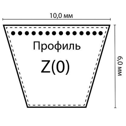 Ремень клиновой Z(0)-750 Lp / 730 Li ГОСТ 1284-89 RUBENA