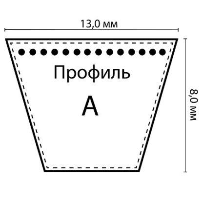 Ремень клиновой А-1000 Lp / 970 Li ГОСТ 1284-89 HIMPT