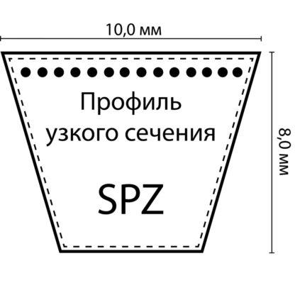 Ремень клиновой SPZ-833 Lp (8.5х8-833) HIMPT