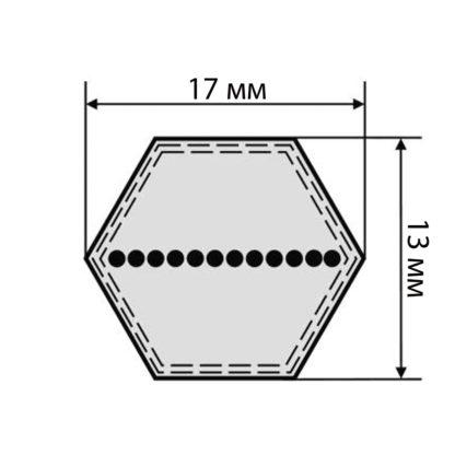 Ремень шестигранный НВВ